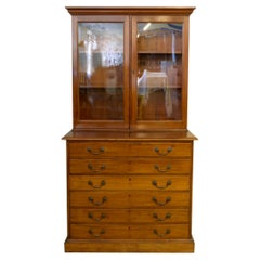 Victorian Mahogany Architects Bookcase