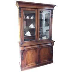Victorian Mahogany Bookcase, 19th Century