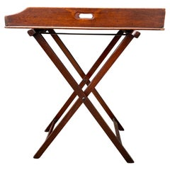 Victorian Mahogany Butlers Tray on Stand