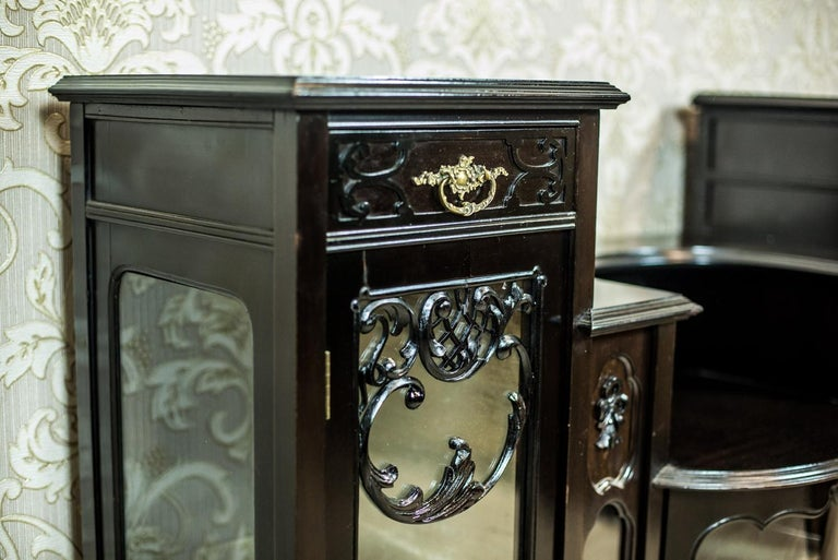 Polished Victorian Mahogany Cabinet from the 19th Century For Sale