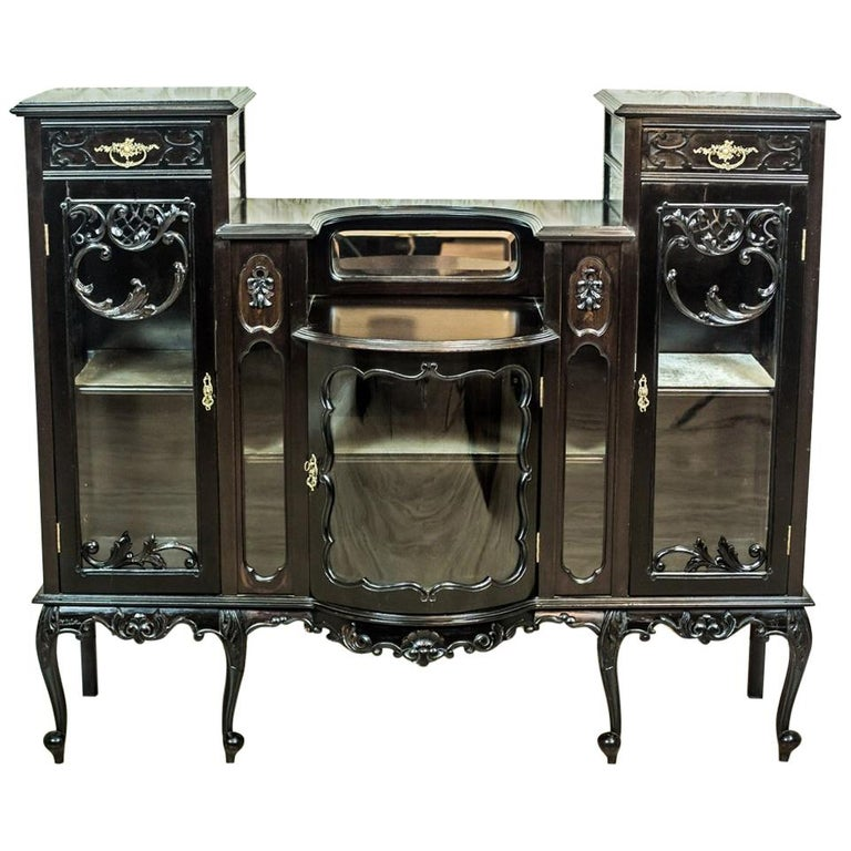 Victorian Mahogany Cabinet from the 19th Century For Sale