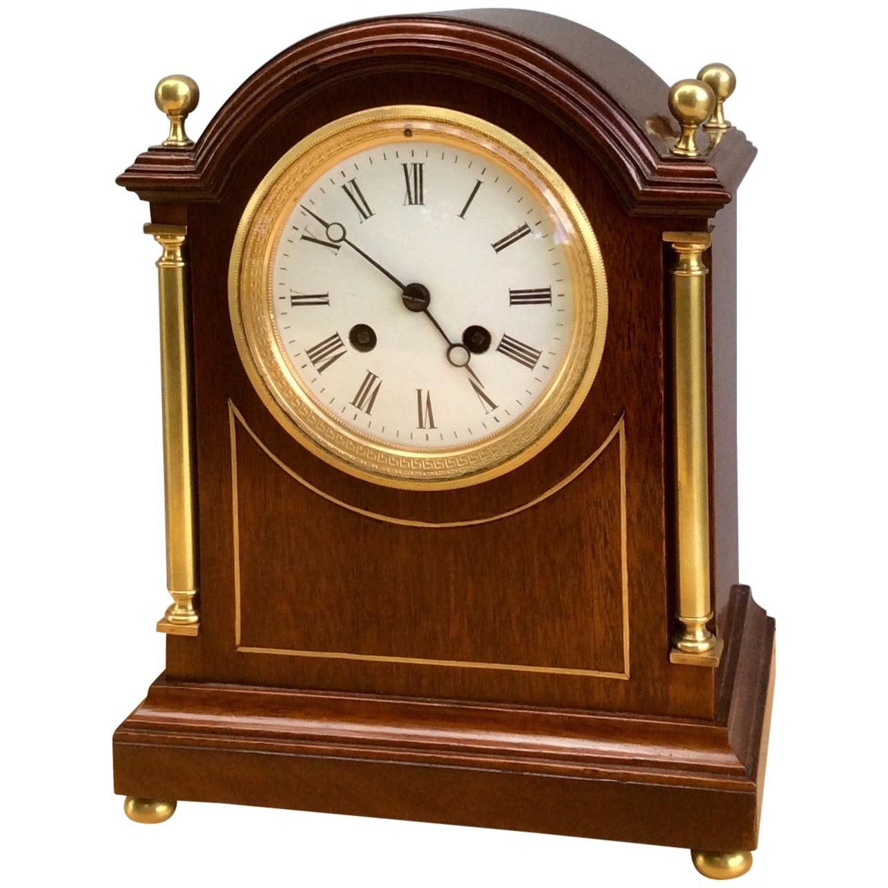Victorian Mahogany Cased French Striking Mantel Clock