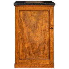 Victorian Mahogany Collector's Cabinet with a Fossil Marble Top