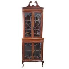 Victorian Mahogany Corner Cabinet