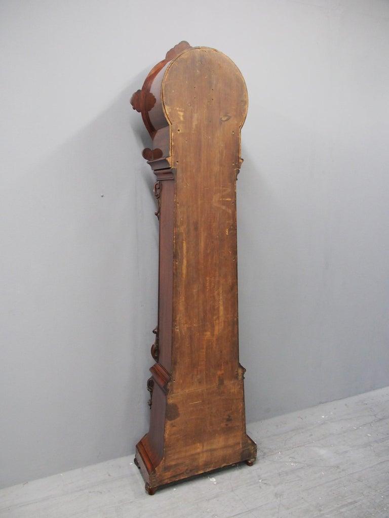 Victorian Mahogany Drum Head Longcase Clock by W. C. Shaw, Glasgow For Sale 8