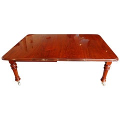 English Victorian Mahogany Extending Dining Table, 19th.century