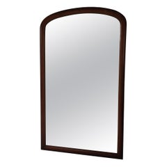 Large Victorian English Mahogany Full Length Dressing Mirror