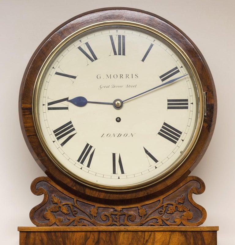 Victorian Mahogany Fusee Wall Clock By G Morris London