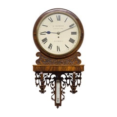 Victorian Mahogany Fusee Wall Clock by G.Morris, London