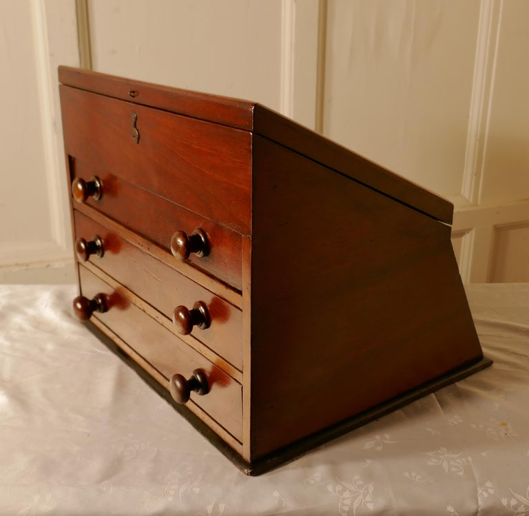 Victorian Mahogany Haberdashery Counter Top Shop Display Cabinet For Sale 1
