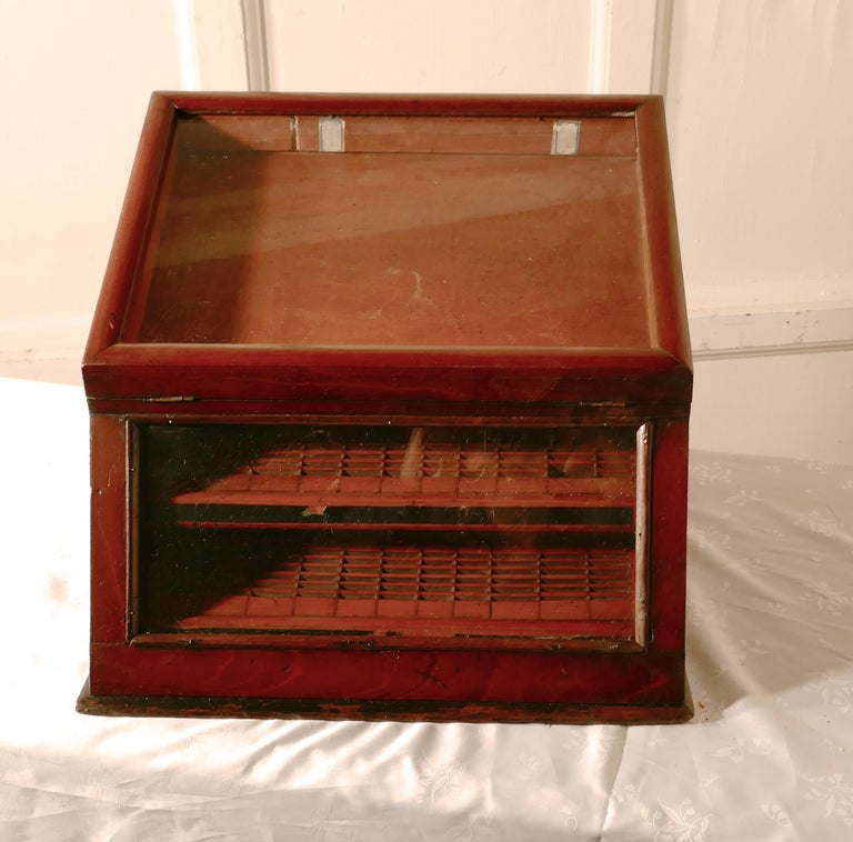 Victorian Mahogany Haberdashery Counter Top Shop Display Cabinet For Sale 2