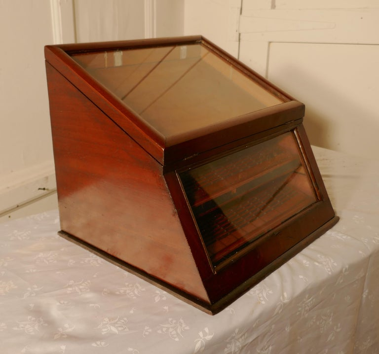 Victorian Mahogany Haberdashery Counter Top Shop Display Cabinet For Sale 3