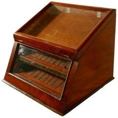 Victorian Mahogany Haberdashery Counter Top Shop Display Cabinet