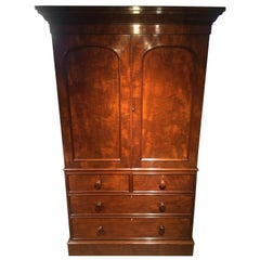 Victorian Mahogany Linen Press