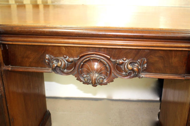 English Victorian Mahogany Mirrored Sideboard For Sale
