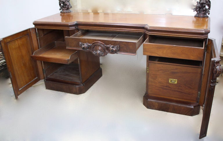 Victorian Mahogany Mirrored Sideboard For Sale 1