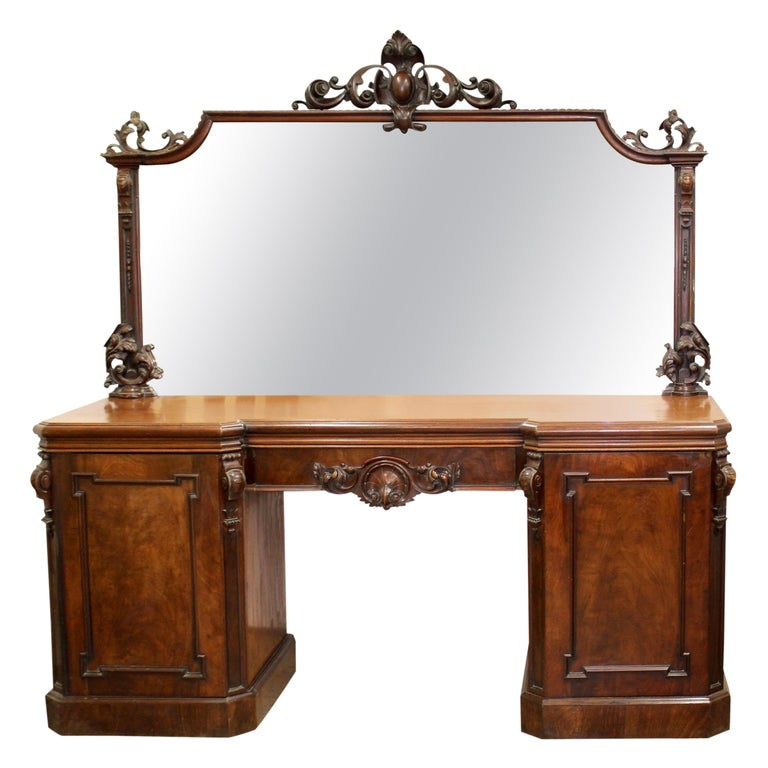 Victorian Mahogany Mirrored Sideboard For Sale