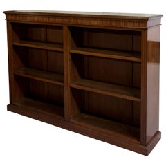 Victorian Mahogany Open Bookcase with Adjustable Shelves, circa 1890