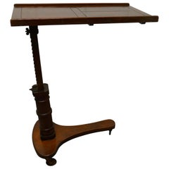 Victorian Mahogany, Over Bed Reading Stand Table