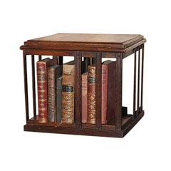 Victorian Mahogany Revolving Tabletop / Desktop Bookcase