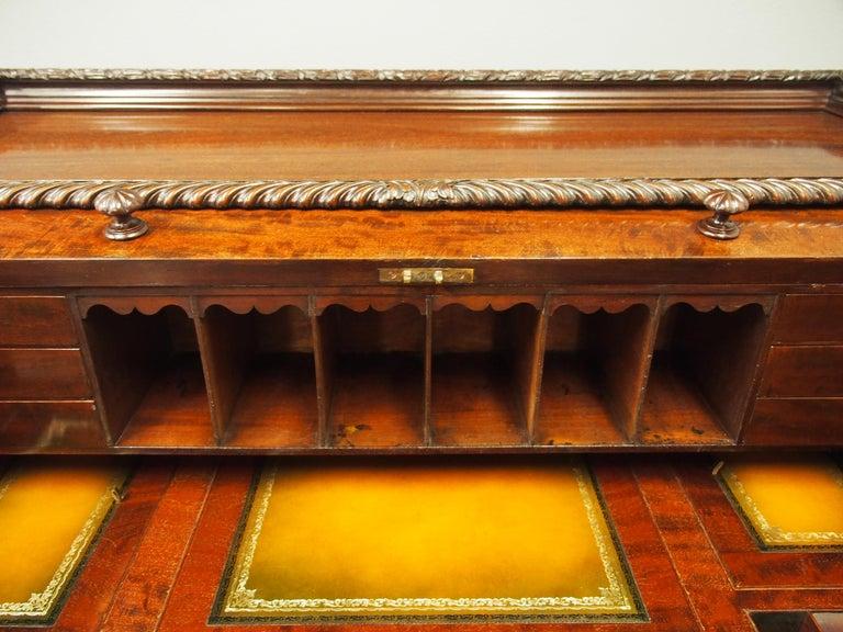 Victorian Mahogany Roll Top Bureau For Sale 15