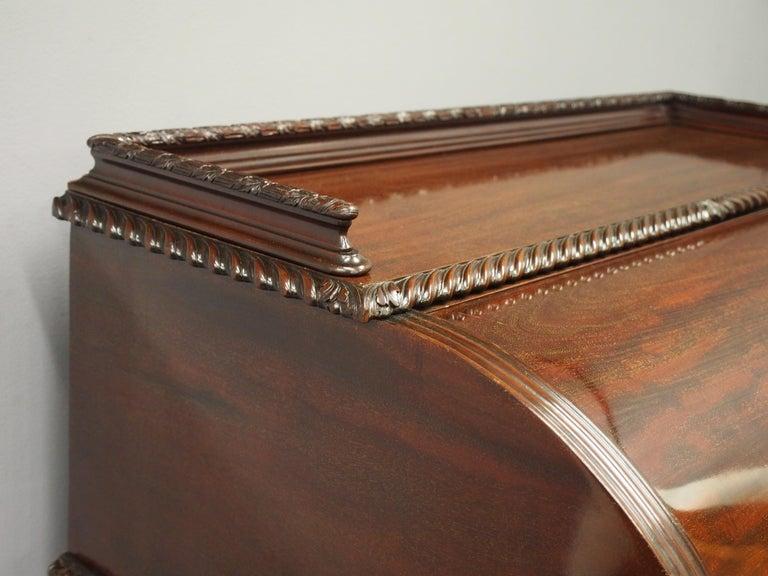 19th Century Victorian Mahogany Roll Top Bureau For Sale