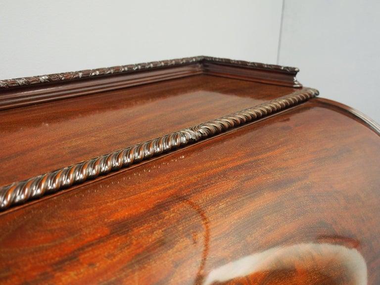 Victorian Mahogany Roll Top Bureau For Sale 1