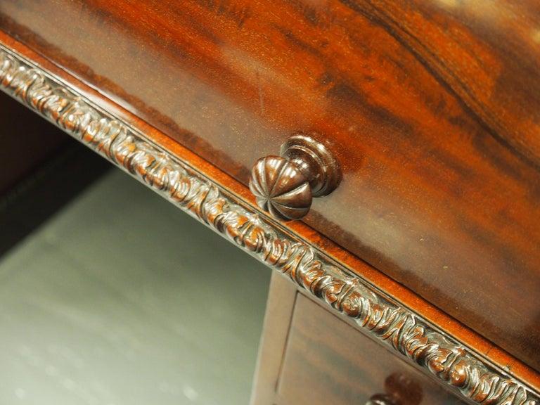 Victorian Mahogany Roll Top Bureau For Sale 3