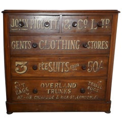 Victorian Mahogany Sign Painted Chest of Drawers, John Piggott & Co Ltd