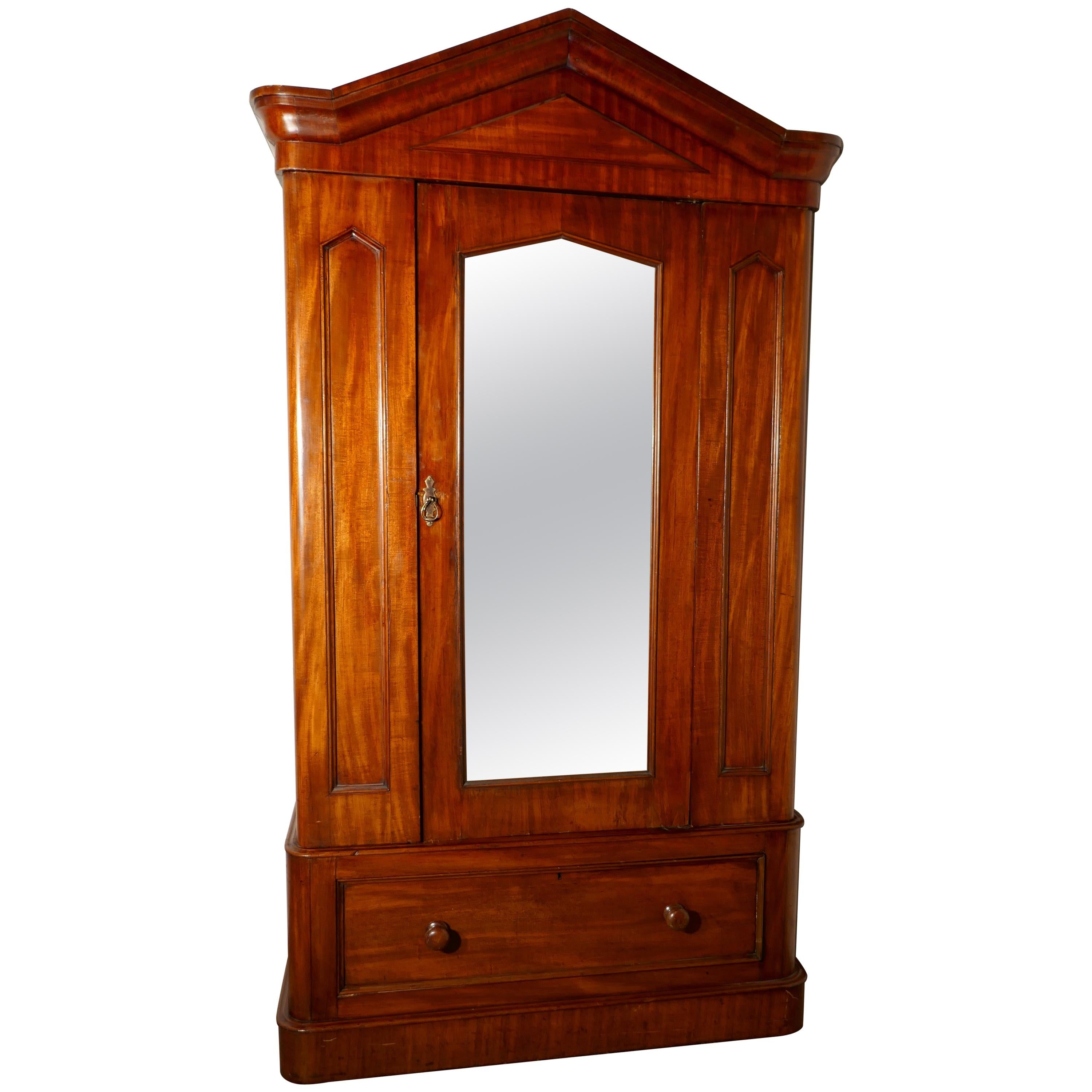 Victorian Mahogany Single Wardrobe At