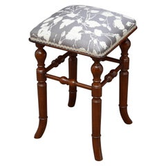 Victorian Mahogany Stool by H. Brooks & Co.