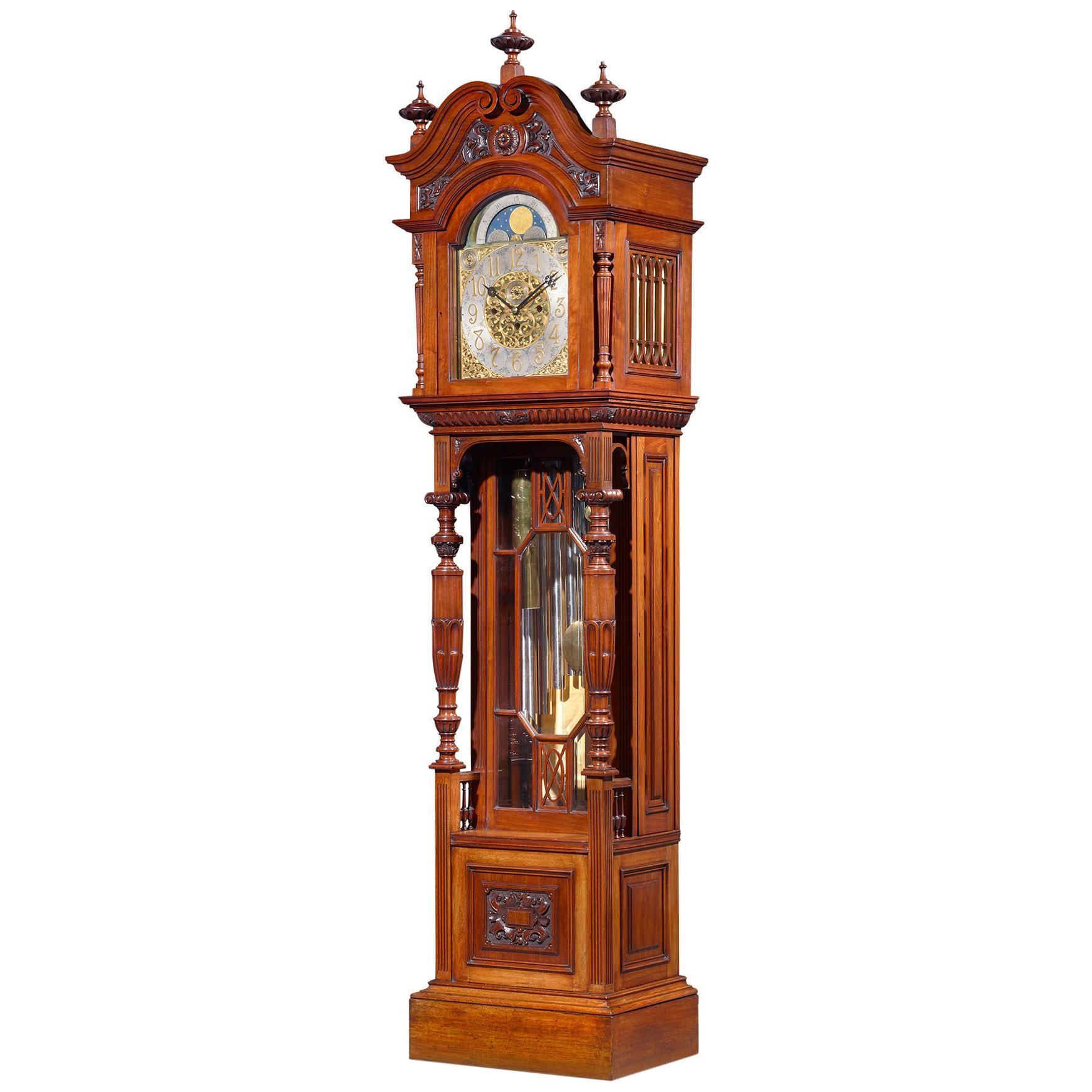 Victorian Mahogany Tall Case Clock