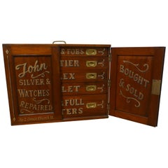 Victorian Mahogany Traveling Watchmakers Display Cabinet