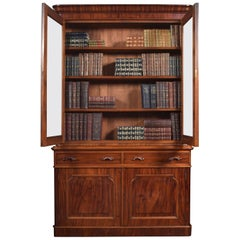 Victorian Mahogany Two-Door Bookcase