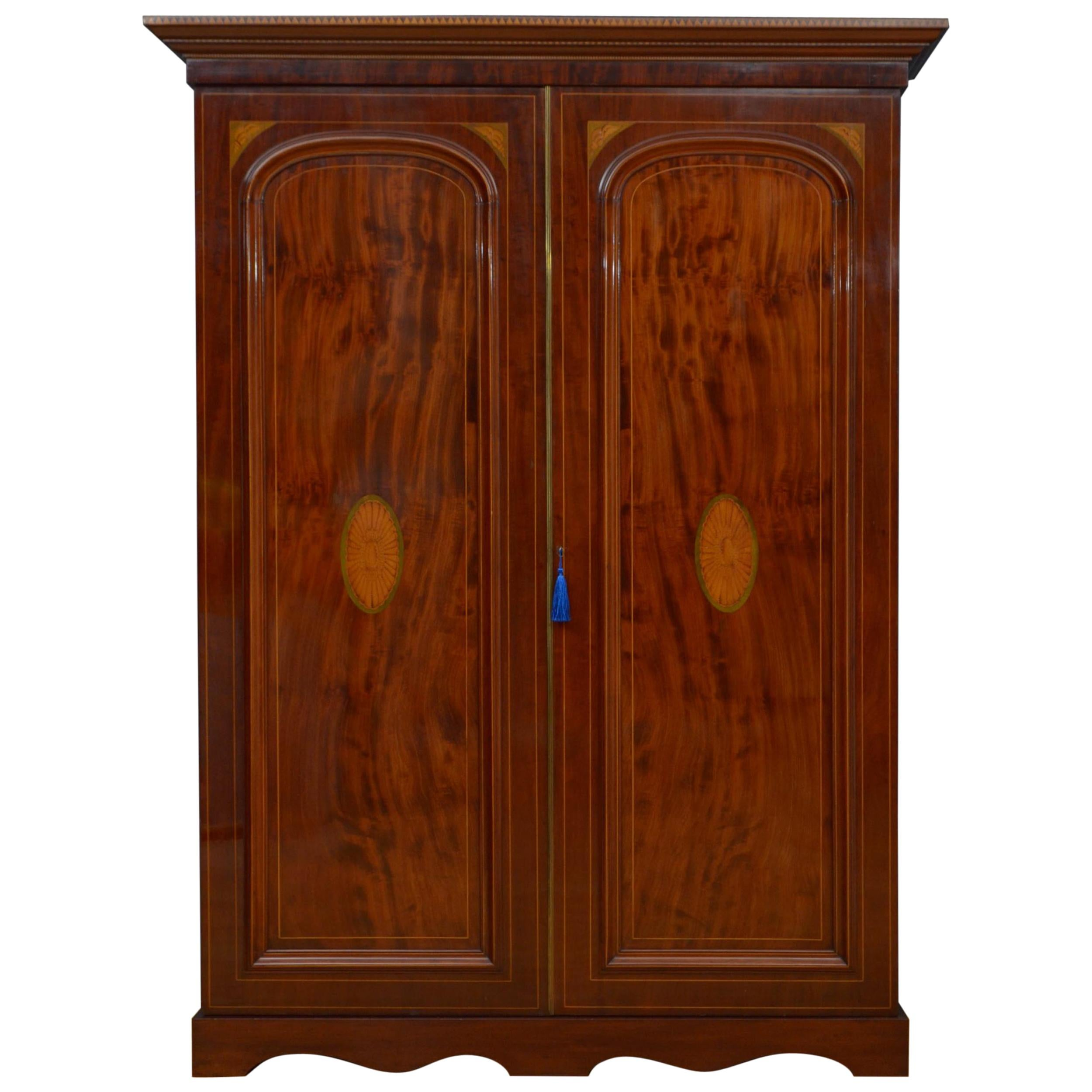 Victorian Mahogany Two Door Wardrobe