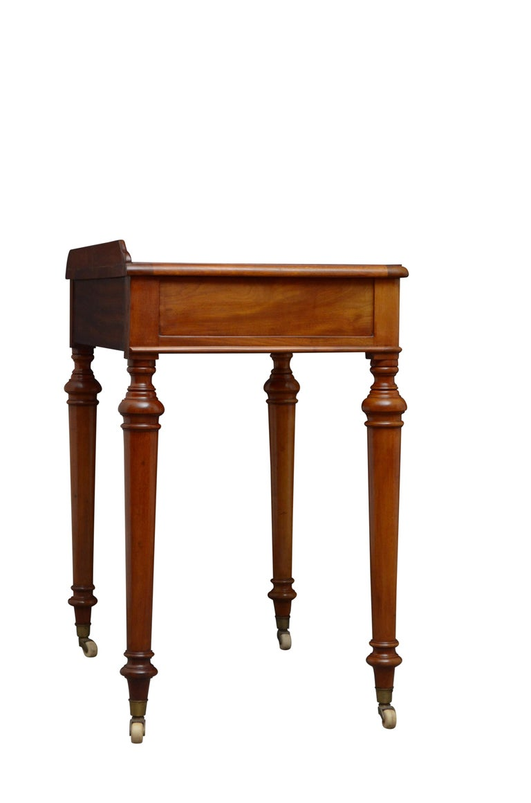 Victorian Mahogany Writing Table of Narrow Proportions For Sale 6