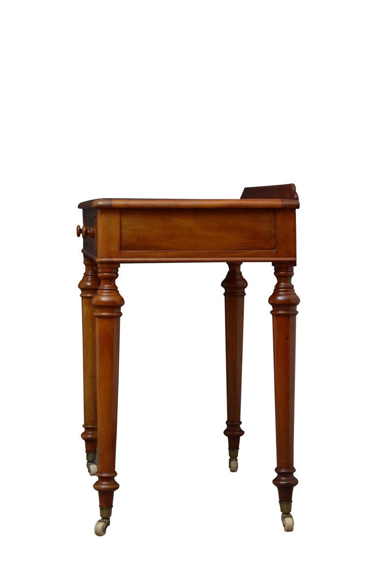 Victorian Mahogany Writing Table of Narrow Proportions For Sale 4