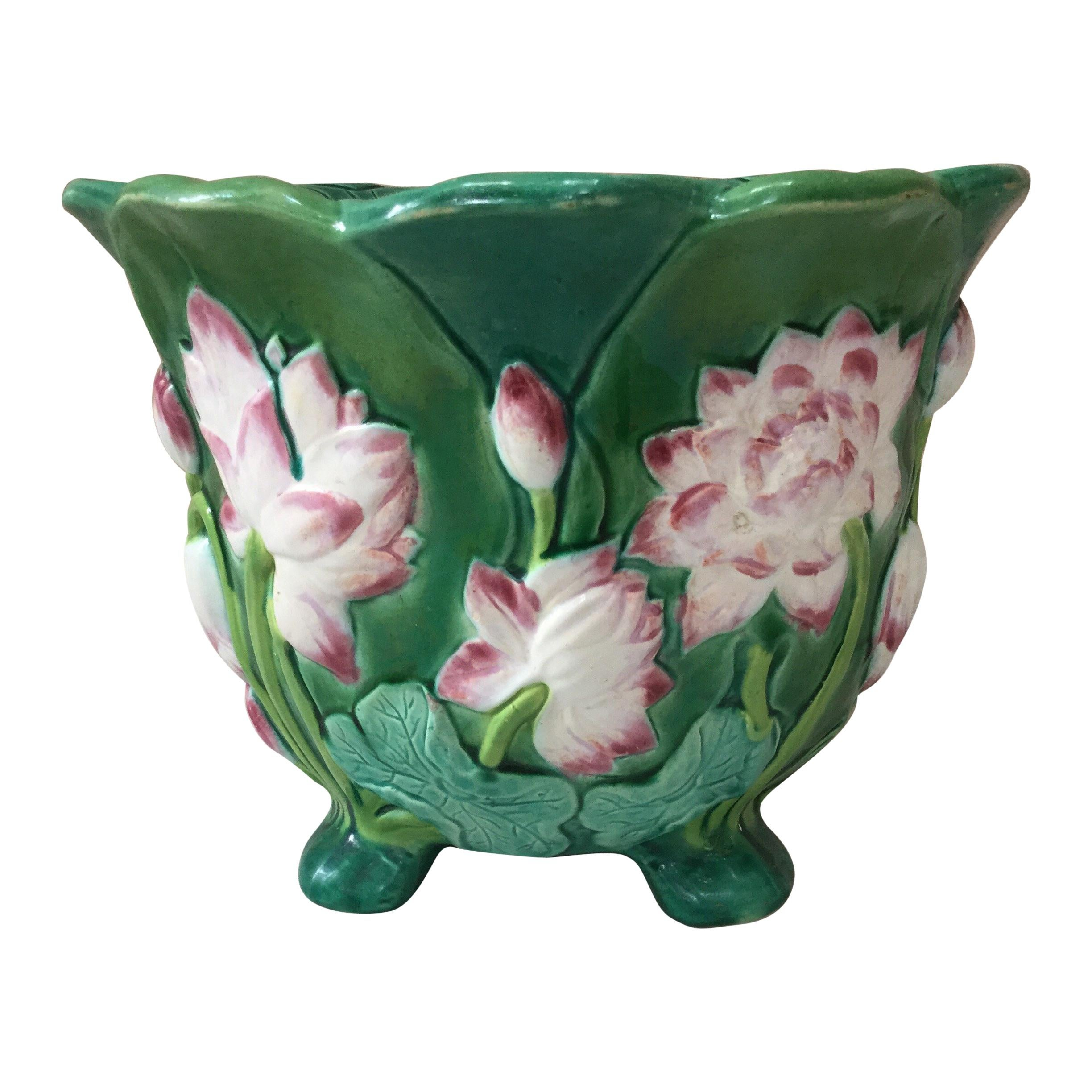 Art Deco Green Glass Glass Bowl With Handpainted Flowers Great Varieties Glass