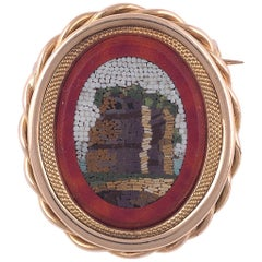 Victorian Micromosaic Brooch