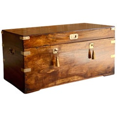 Victorian Military Campaign Trunk Chest Teak Camphor Wood 'circa 1850' Number 25