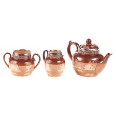 Victorian Miniature Doulton Three Piece Tea Set