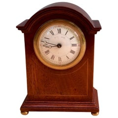 Victorian Miniature Mahogany Mantel Clock by Maple & Co, Paris