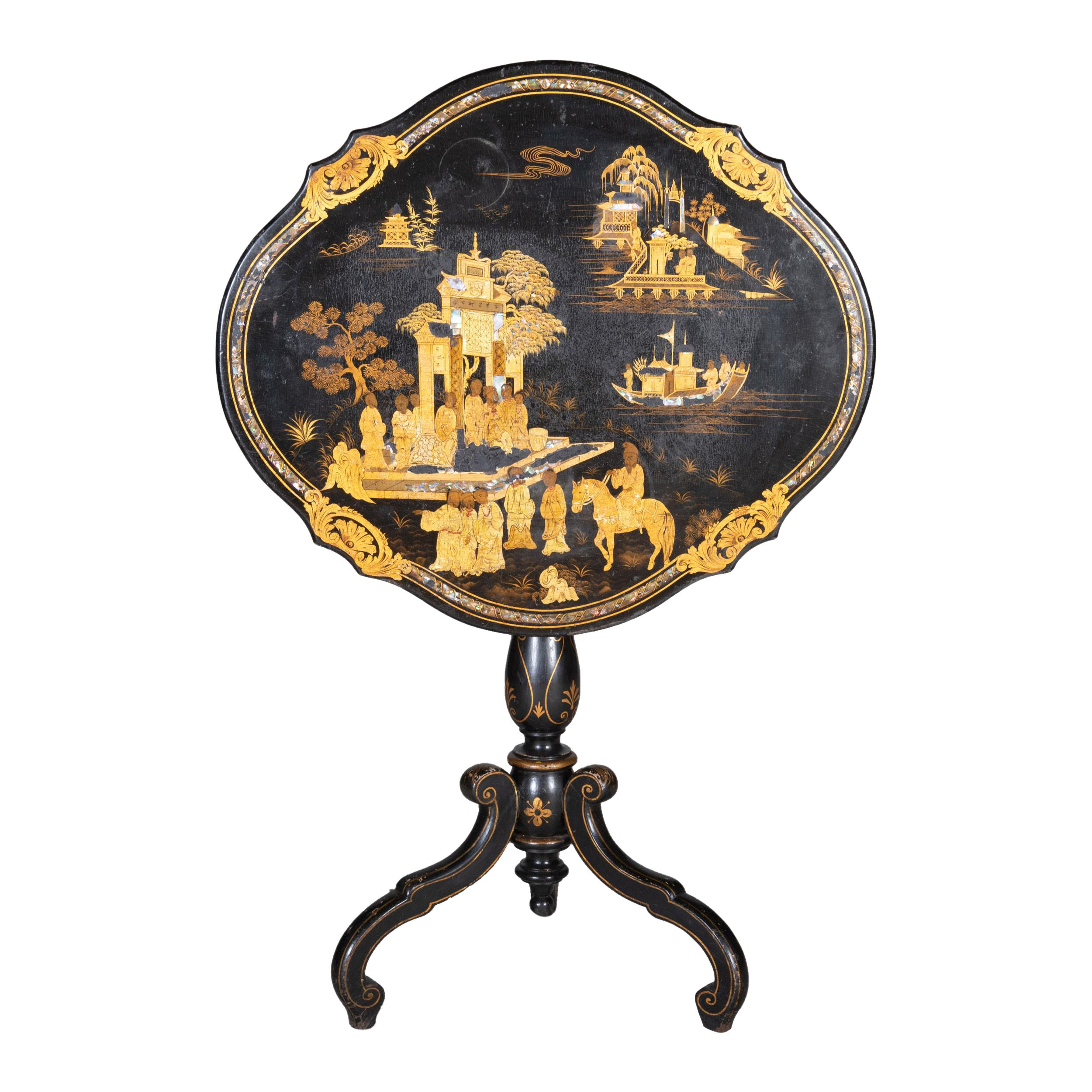 Victorian Mother of Pearl Tilt-Top Table