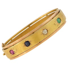 Victorian Multi-Gemstone Bangle Bracelet