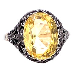 Victorian Natural Yellow Sapphire Ring