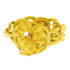 Victorian Naturalistic Gold Bracelet