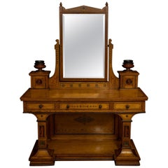 Victorian Neo Classical Pitch Pine Dressing Table