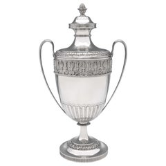 Victorian Neoclassical Design Sterling Silver Trophy Hallmarked London, 1872