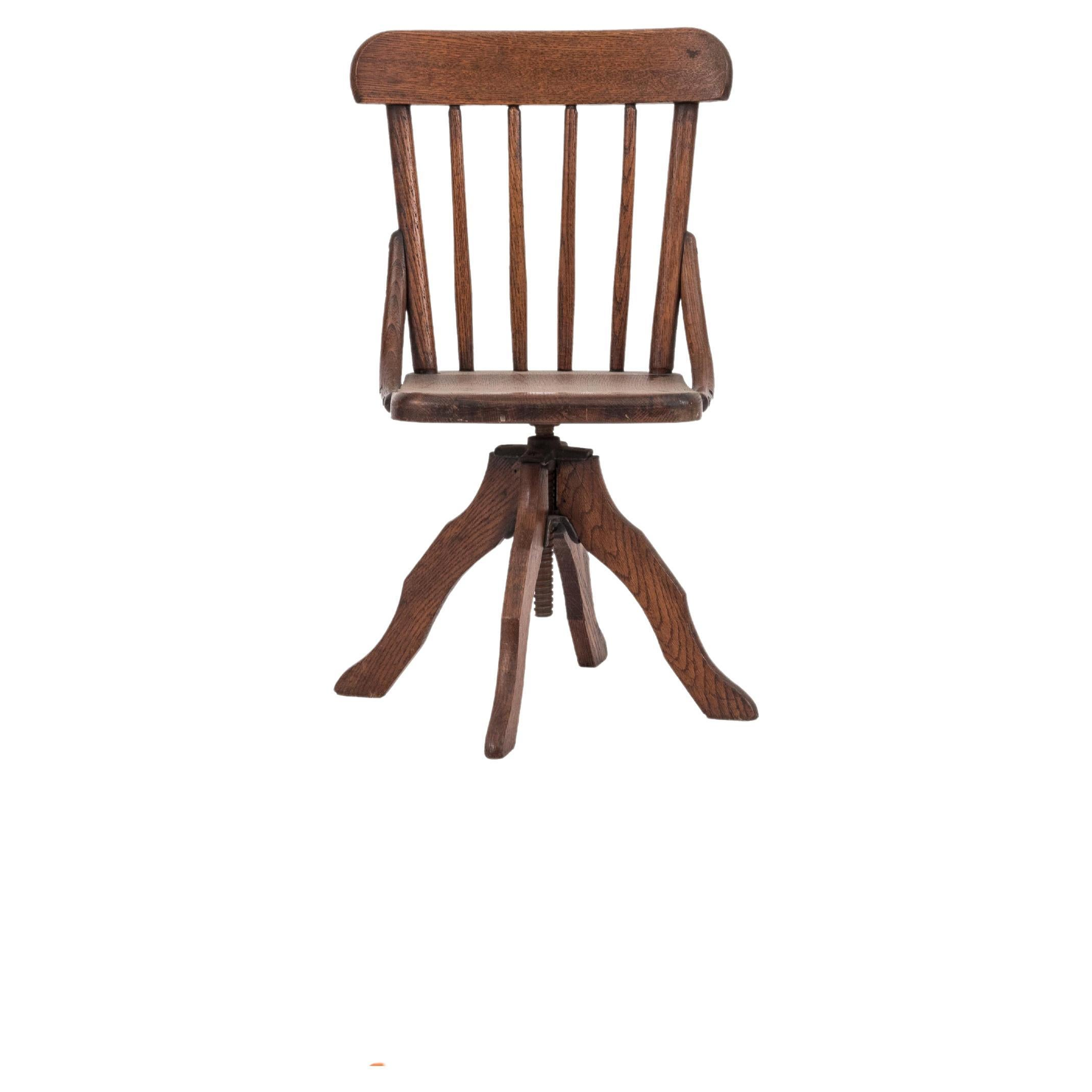 Victorian Oak Child Desk Chair