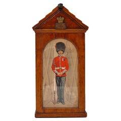 Victorian Oak Cigar Box modelled as a Sentry Box, circa 1890